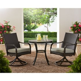 Member's Mark Agio Heritage 3-Piece Bistro Set - Dove