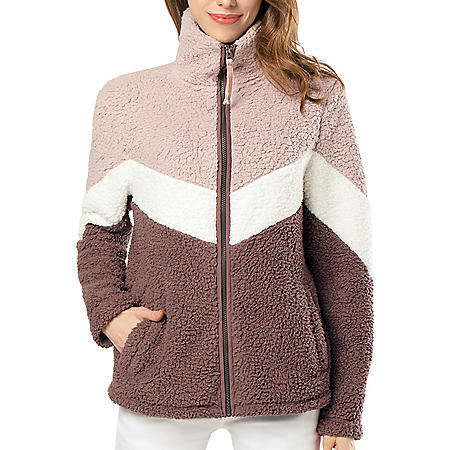 Member's Mark Ladies Full Zip Sherpa Jacket