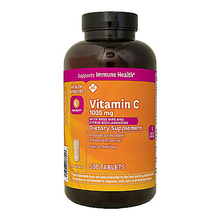 Member's Mark Vitamin C 1000 mg with Rosehips and Citrus Bioflavonoids (500 ct.)