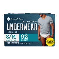 Member's Mark Total Protection Incontinence Underwear for Men