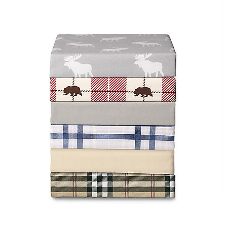 Member's Mark Flannel Sheet Set (Assorted Sizes and Colors)