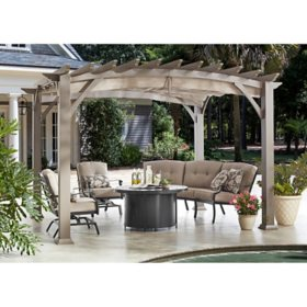 Member's Mark 10' x 12' Pergola (Brown)