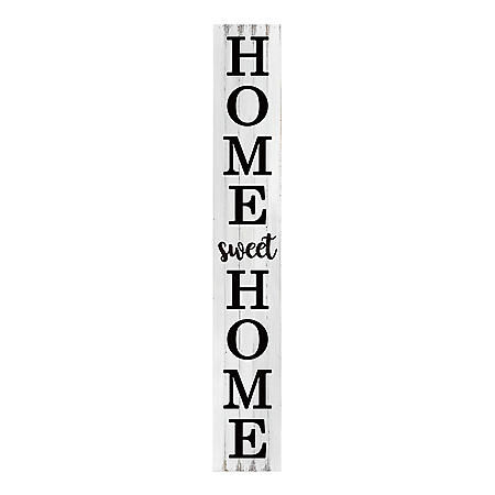 Member's Mark Distressed White 'Home Sweet Home' Wooden Porch Sign