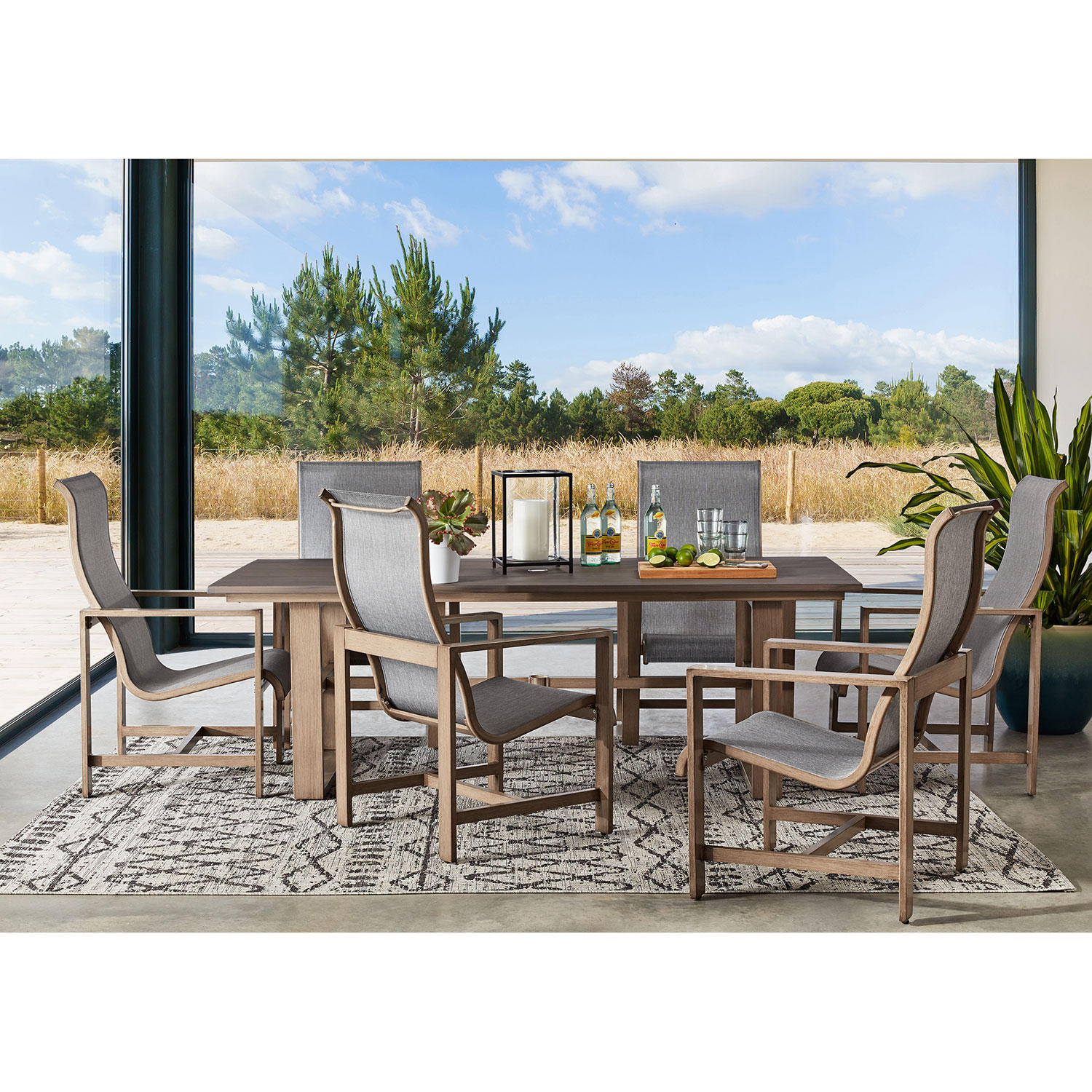 Member's Mark Agio Avondale 7-Piece Sling Patio Dining Set