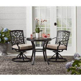 Member's Mark Agio Hastings 3-Piece Bistro Set with Sunbrella Fabric