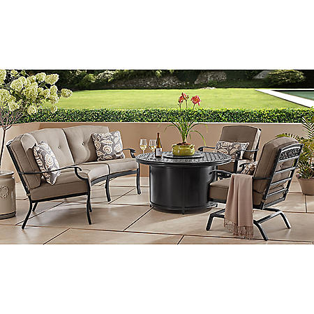 Member's Mark Agio Hastings 4-Piece Curved Deep Seating Set with Sunbrella Fabric