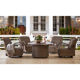 Member's Mark Agio Havana 5-Piece Fire Pit Chat Set