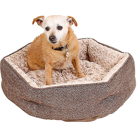 """Member's Mark Ultra Soft Comforting Pet Bed, 24"""" x 24"""" (Choose Your Color)"""