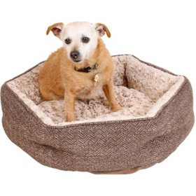 "Member's Mark Ultra Soft Comforting Pet Bed, 24"" x 24"" (Choose Your Color)"
