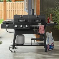 Members Mark Charcoal & Gas Combo Grill with Sideburner Griddle