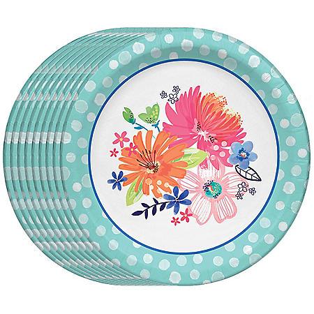 "Member's Mark Spring Bliss Paper Plates, 10"" (90 ct.)"