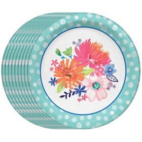 "Member's Mark Spring Bliss Paper Plates, 10"" (90 ct.)"