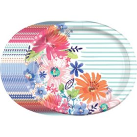 "Member's Mark Spring Bliss Oval Paper Plates, 10"" x 12"" (55 ct.)"