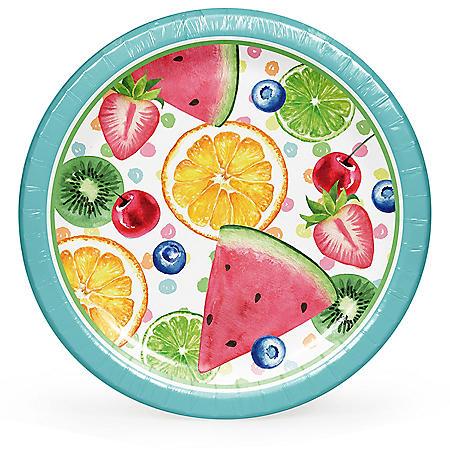 """Member's Mark Summer Fun Treats Paper Plates, 10"""" (90 ct.)"""