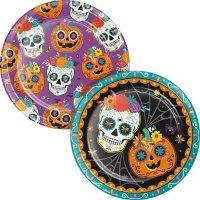 "Member's Mark Sugar Skull Pumpkins Paper Plates, 10"" (90 ct.)"