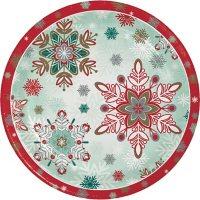 "Member's Mark Festive Snowflakes Paper Plates, 10"" (90 ct.)"
