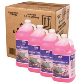 Member's Mark Commercial Pink Lotion Dish Detergent, 1 gal. (Choose Pack Size)