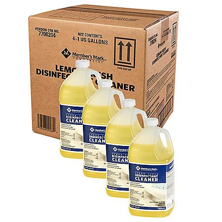 Member's Mark Commercial Lemon Fresh Disinfectant Cleaner, 1 gal. (Choose Pack Size)