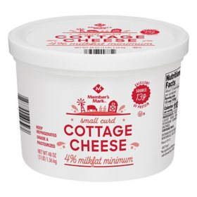 Member's Mark 4% Cottage Cheese, Small Curd  (48 oz.)