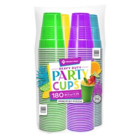 Member's Mark Premium Quality Cups, Summer Colors (18 oz., 180 ct.)