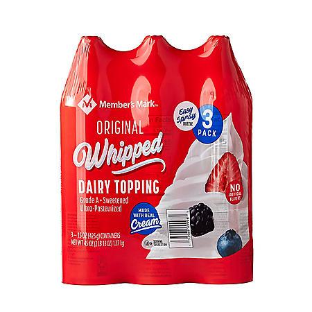 Member's Mark Original Dairy Whipped Topping (15 oz., 3 pk.)