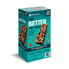 Member's Mark The Better Nut Bar, Dark Chocolate and Sea Salt (24 ct.)
