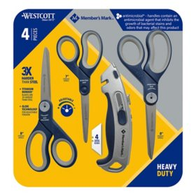 Anti-Microbial Member's Mark Scissors with Box Cutter