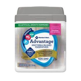 Member's Mark Advantage Non-GMO with 2'-FL HMO Infant Formula Powder with Iron (48 oz.)