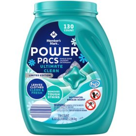 Member's Mark Power Pacs Laundry Detergent, Botanical Breeze, Limited Edition (130 ct.)