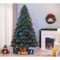 Member's Mark Pre-Lit 7.5' Bristle Fir Christmas Tree