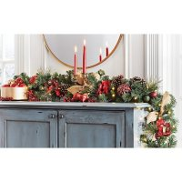 Member's Mark Pre-Lit 9' Decorated Garland (Red/Gold)