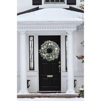 "Member's Mark Pre-Lit 32"" Decorated Wreath (Flocked)"