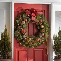 "Member's Mark Pre-lit 39"" Decorated Wreath"