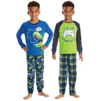 Member's Mark Boys' 4 Piece Fleece Pajama Set