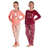 Member's Mark Girls' 4 Piece Fleece Pajama Set