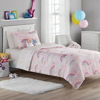 Member's Mark  Jersey Bedding Set Rainbow ( 6pc Twin or 8pc Full)