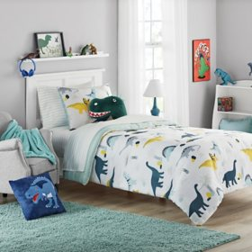 Member's Mark  Jersey Bedding Set Dino (6pc Twin  or 8pc Full)