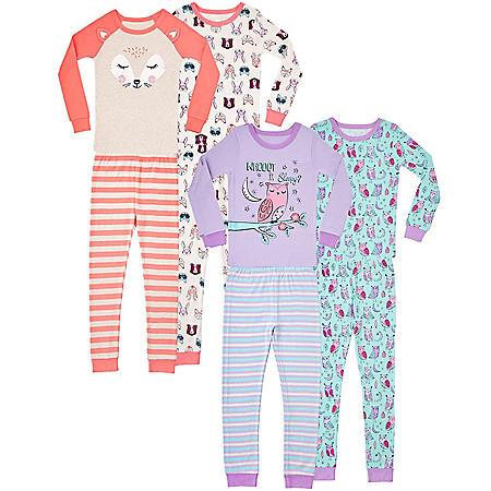 Member's Mark Girl's 8 Piece Cotton Pajama