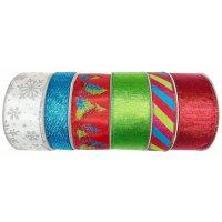 Member's Mark 6 P. Premium Wired Ribbon (Holiday Bash)