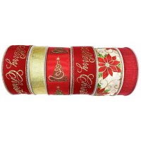 Member's Mark 6 Pk. Premium Wired Ribbon (Traditional Holiday)