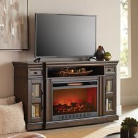 """Manhattan Media Fireplace, TVs up to 70"""" & 135 lbs. (Assorted Colors)"""