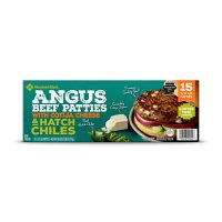 Member's Mark Frozen Angus Beef Patties with Cotija Cheese and Hatch Chiles (1/3 lb. each, 15 ct.)