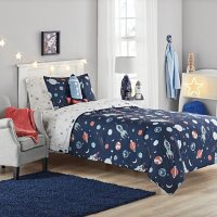 Member's Mark Jersey Bedding Set Space (6pc Twin or 8pc Full)