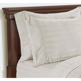 Member's Mark Hotel Premier Collection 700 Thread Count Egyptian Cotton Striped Pillowcase 2 Pack (Assorted Sizes and Colors)