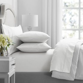 Member's Mark Hotel Premier Collection 700 Thread Count Egyptian Cotton Solid Pillowcase 2 Pack (Assorted Sizes and Colors)