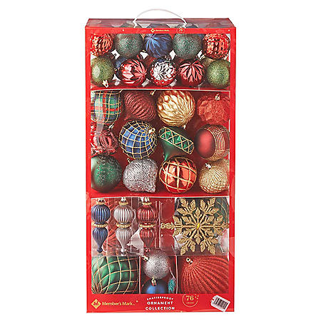 Member's Mark Shatterproof Ornament Collection, 76 ct. ( Traditional)