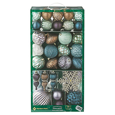 Member's Mark Shatterproof Ornament Collection, 76 ct. ( Natural)