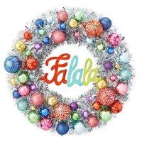 "Member's Mark 24"" Shatterproof Ornament Tinsel Wreath ( Silver)"