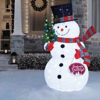 """Member's Mark Pre-Lit 72"""" Pop-Up Twinkling Snowman"""