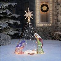 """Member's Mark 72"""" Pre-lit Nativity Scene"""